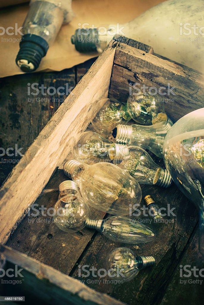 incandescent bulbs stock photo