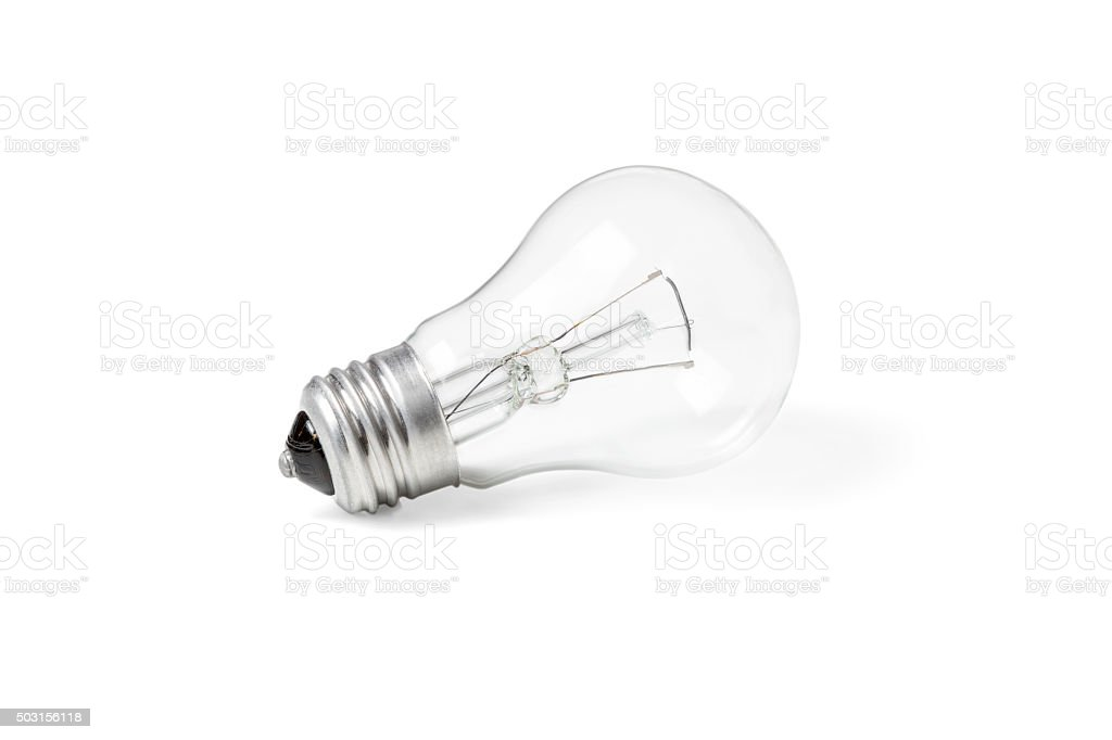 Incandescent lamp new stock photo