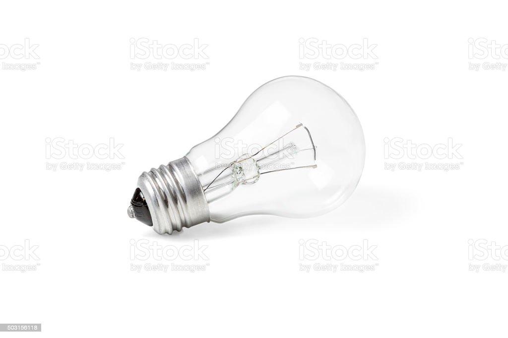 Incandescent lamp new stock photo