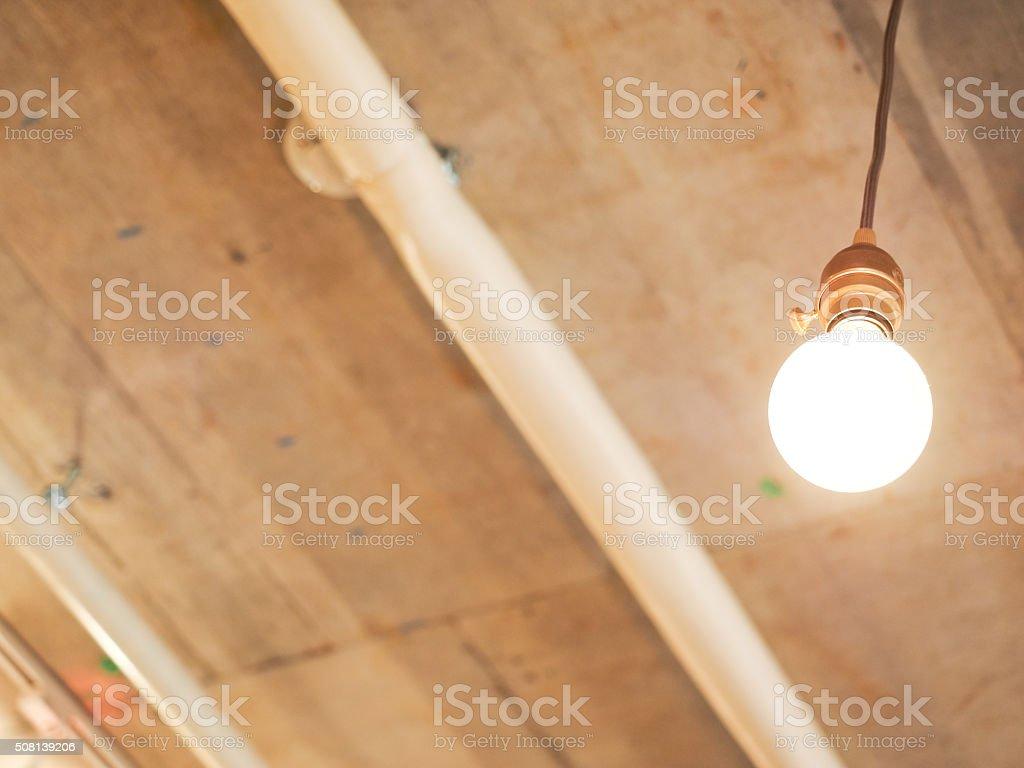 Incandescent lamp stock photo