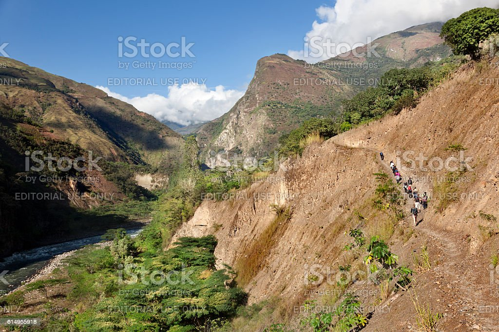 Inca's way stock photo