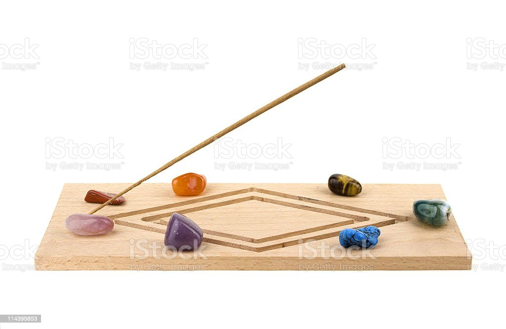 Incence Holder With Crystals stock photo