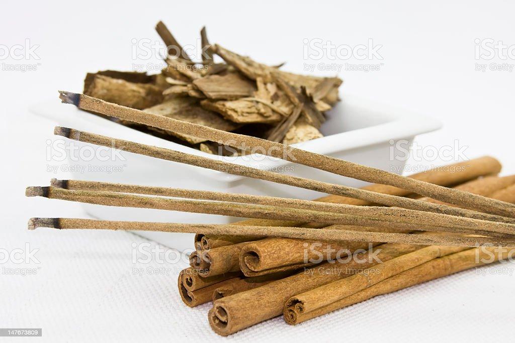 Incense and aromatherapy sticks stock photo