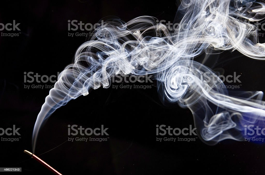 incense and smoke stock photo