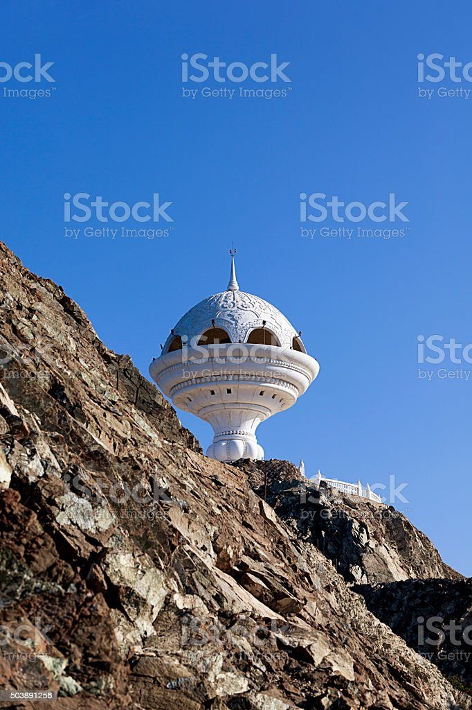 incense burner monument in muscat, oman stock photo