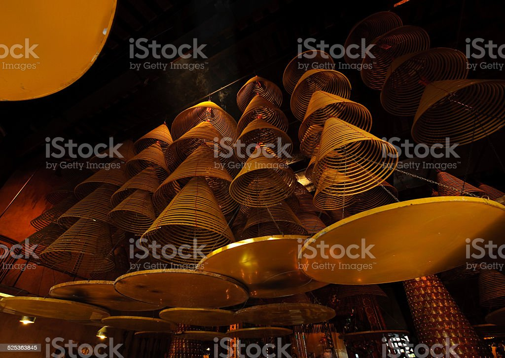 Incense chinese temple stock photo