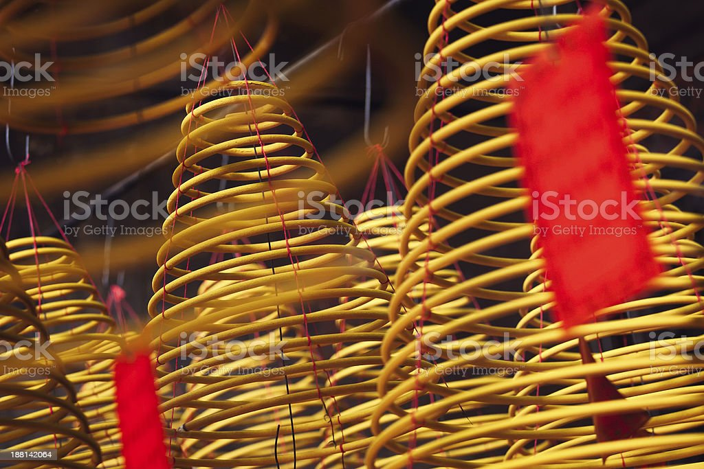 Incense coils stock photo