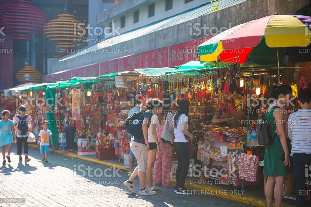 Incense shop in front of Wong Tai Sin Temple stock photo