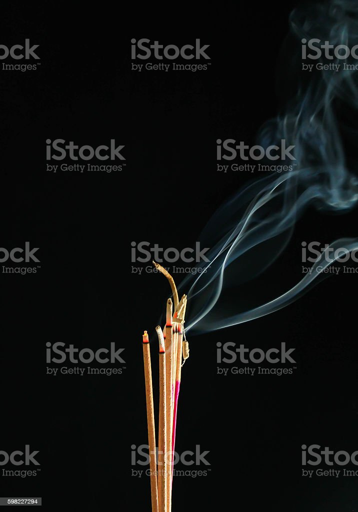 Incense smoke royalty-free stock photo