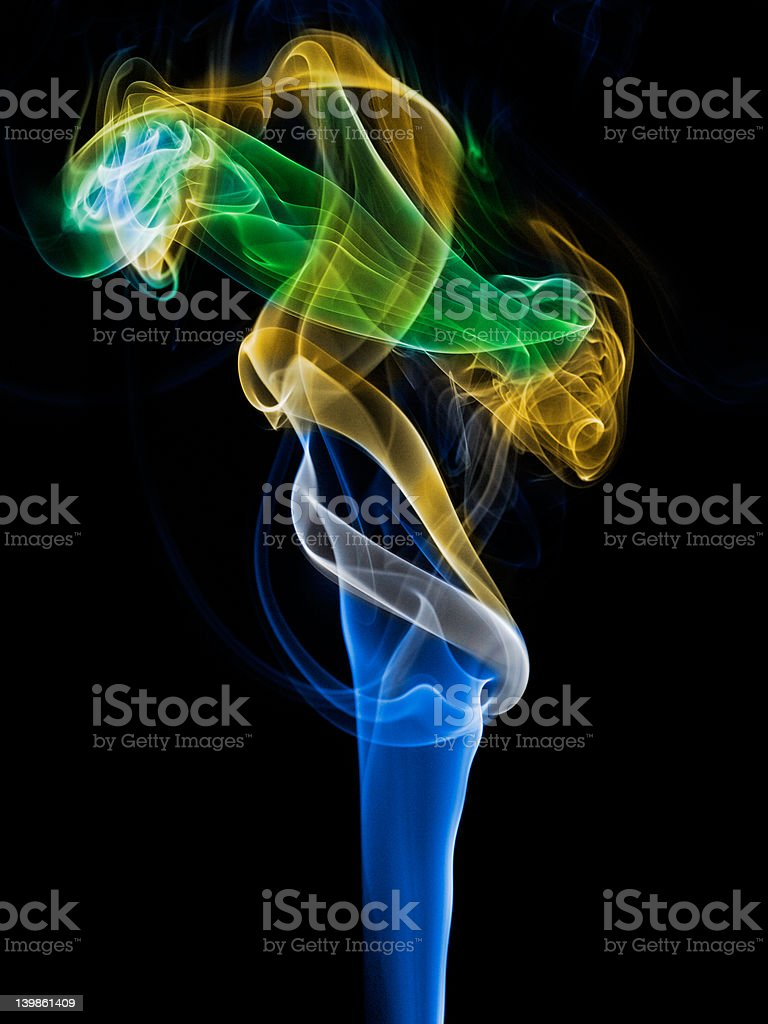 Incense smoke trails royalty-free stock photo