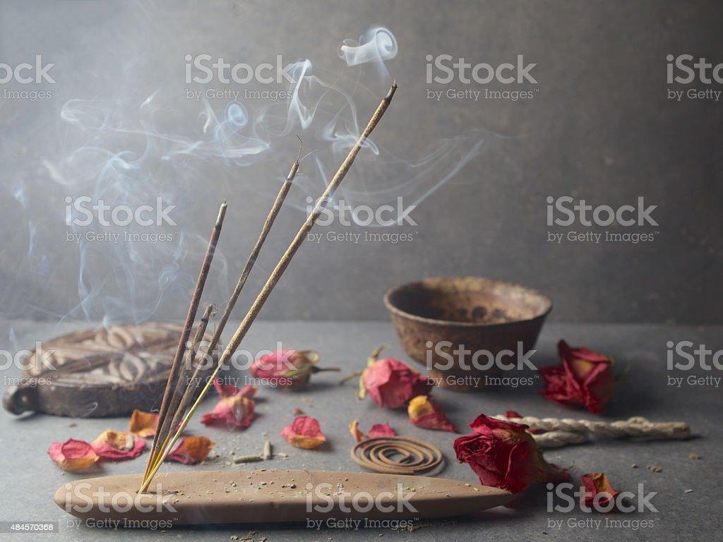 Incense stick. Aromatherapy stock photo