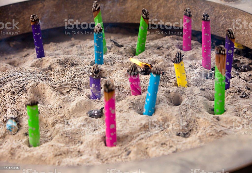 Incense Sticks Burning royalty-free stock photo