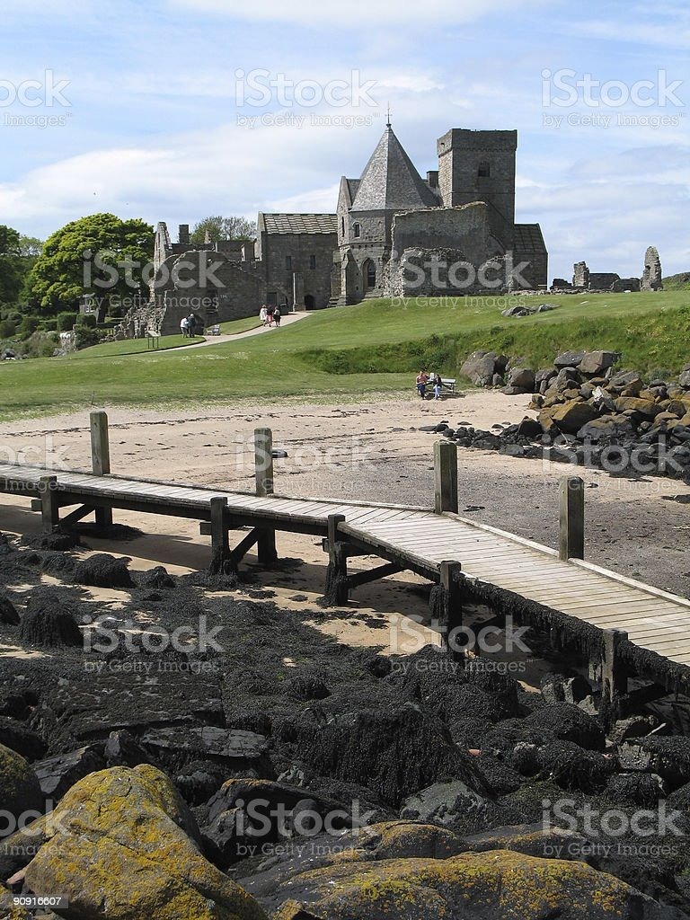 Inchcolm abbey in Scotland royalty-free stock photo