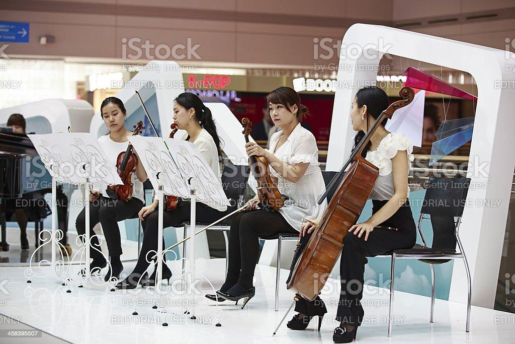 Incheon Airport Music Performance royalty-free stock photo