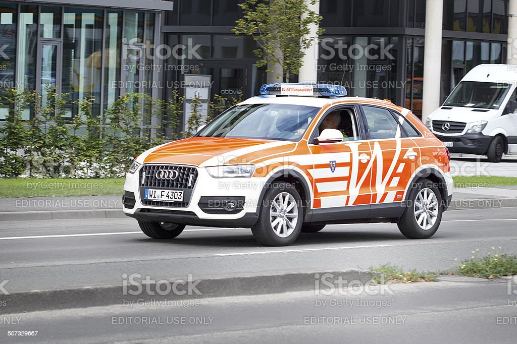 Incident command vehicle Audi Q3 royalty-free stock photo