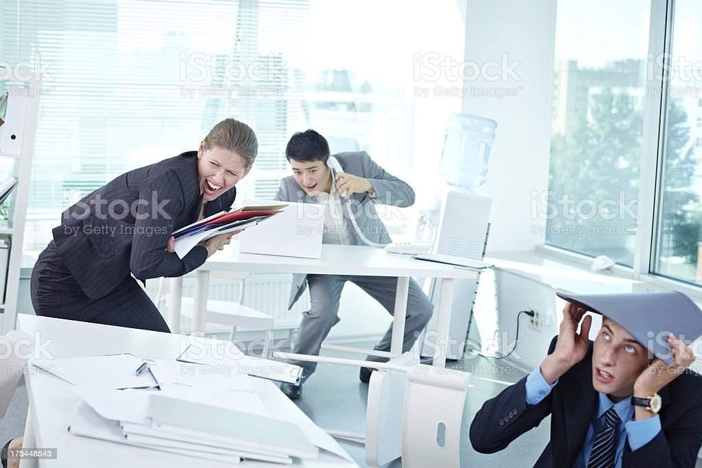 Incident in office stock photo