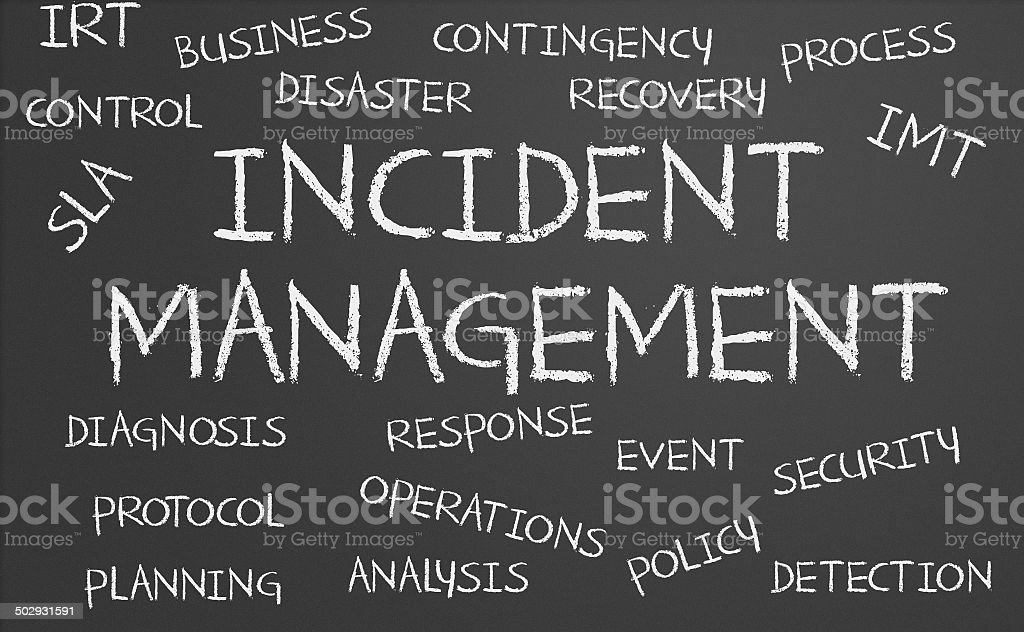 Incident Management word cloud stock photo