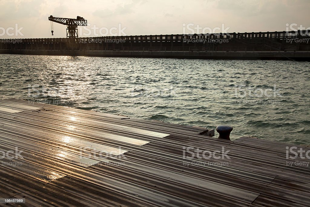 Inclement Vintage Port royalty-free stock photo