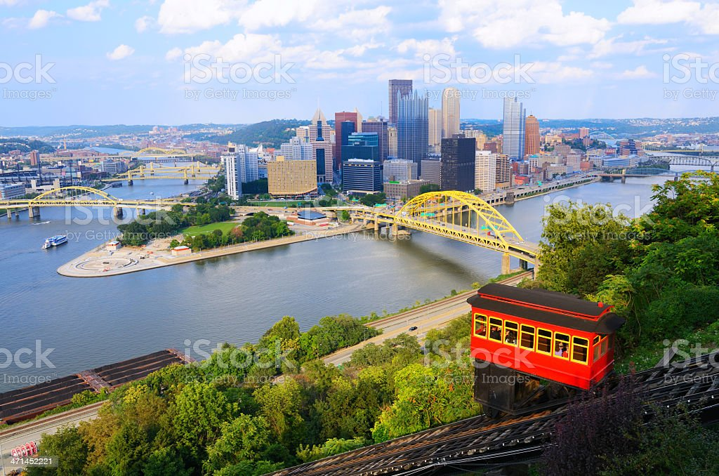 Incline in Pittsburgh stock photo