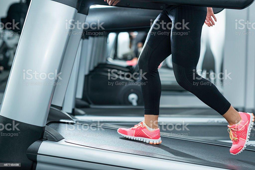 Incline Treadmill Running stock photo