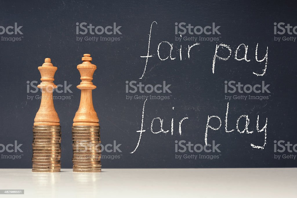 Income differences between men and women royalty-free stock photo