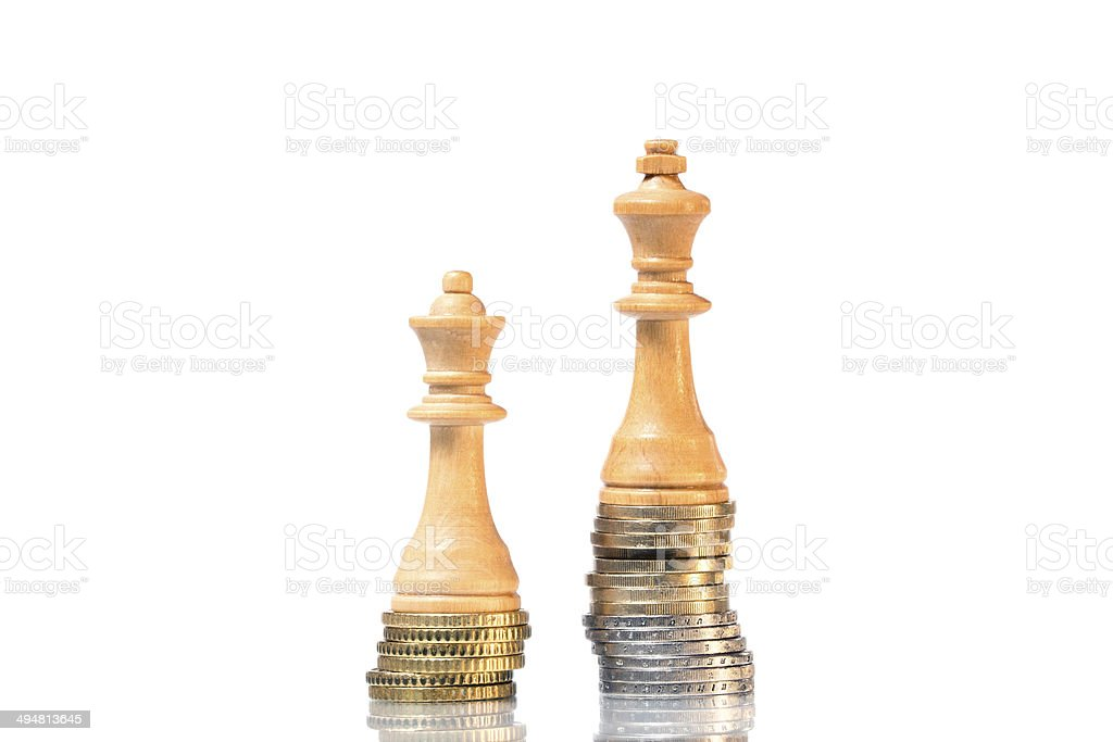 Income differences between men and women stock photo