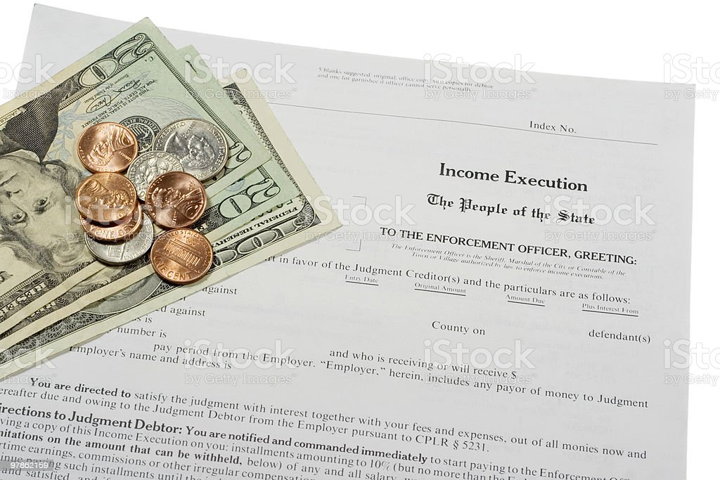 Income Execution Form stock photo