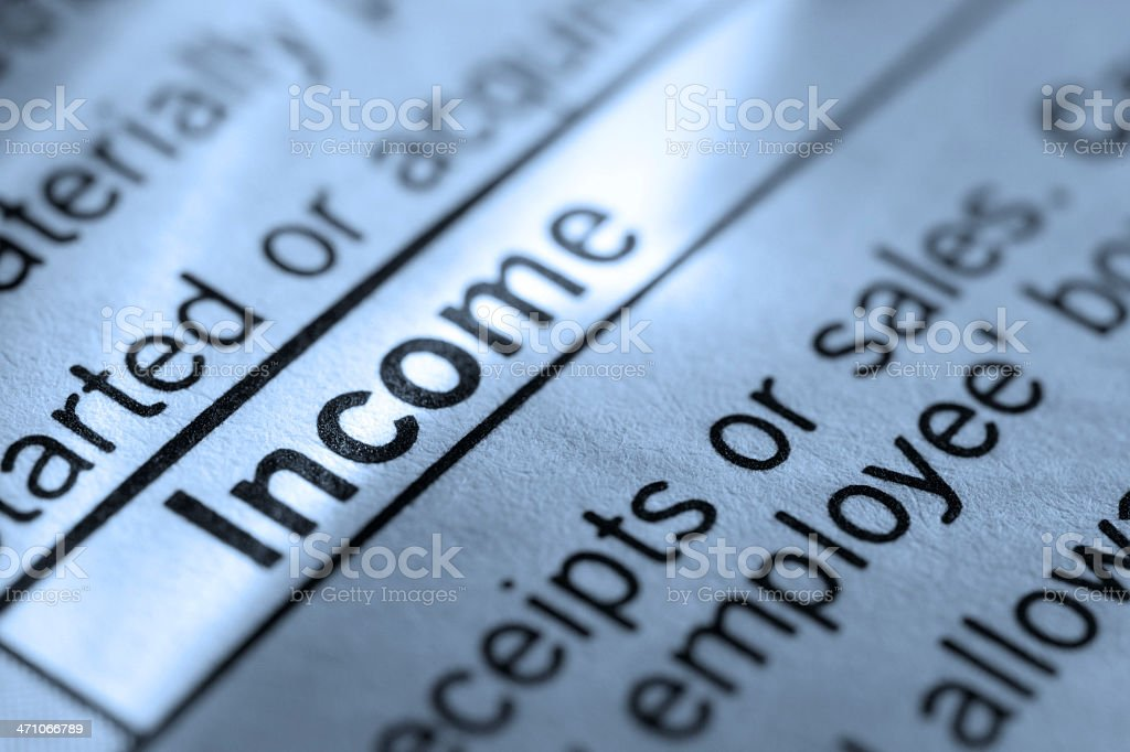 Income royalty-free stock photo