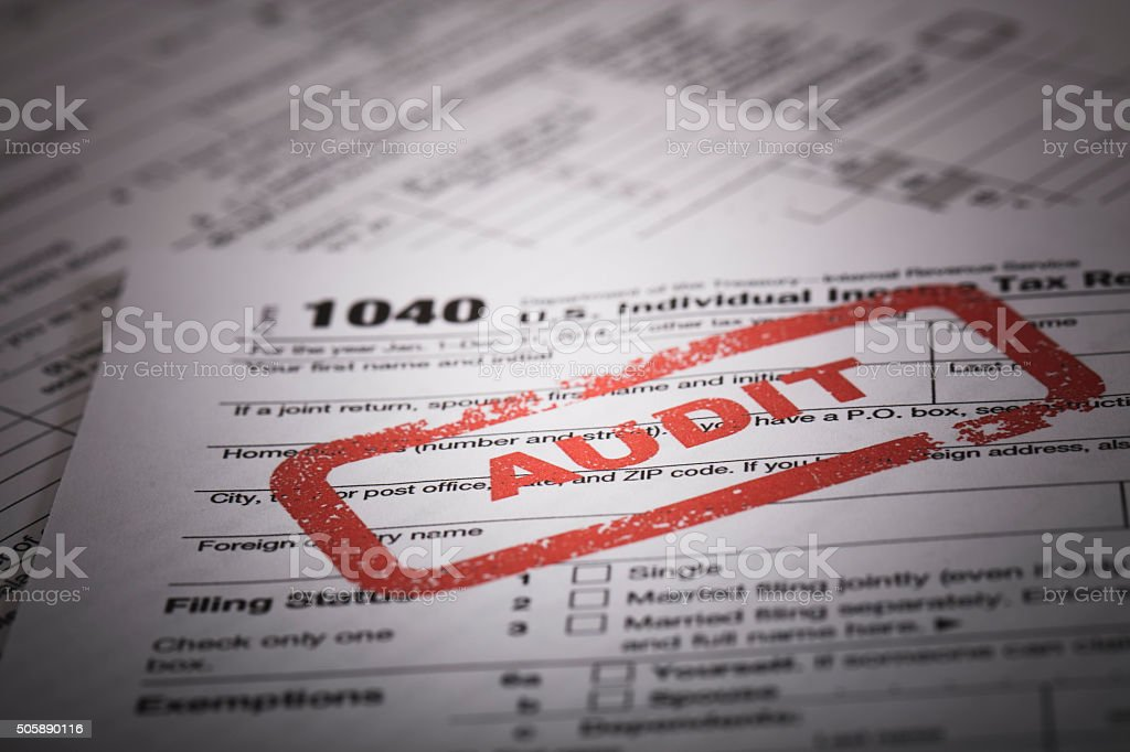 1040 income tax audit stock photo