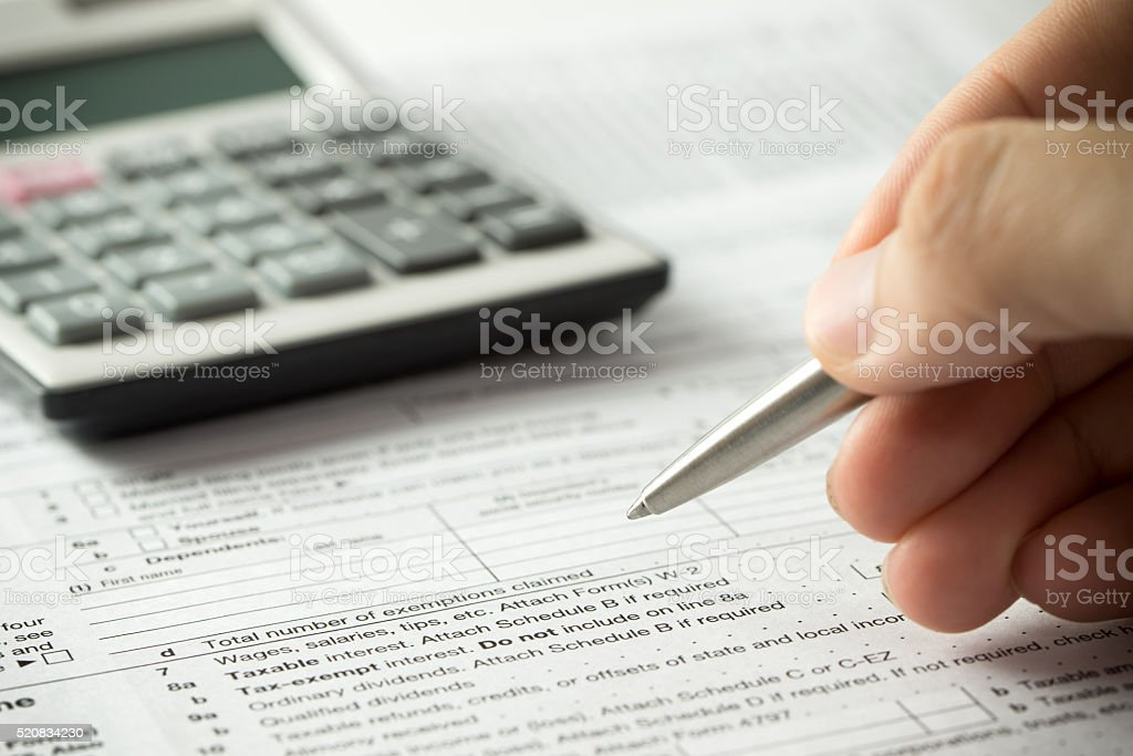 Income tax filling stock photo