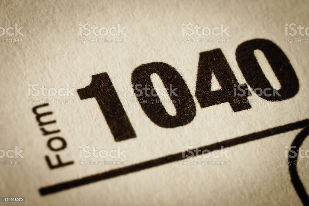 Income Tax Form 1040 stock photo