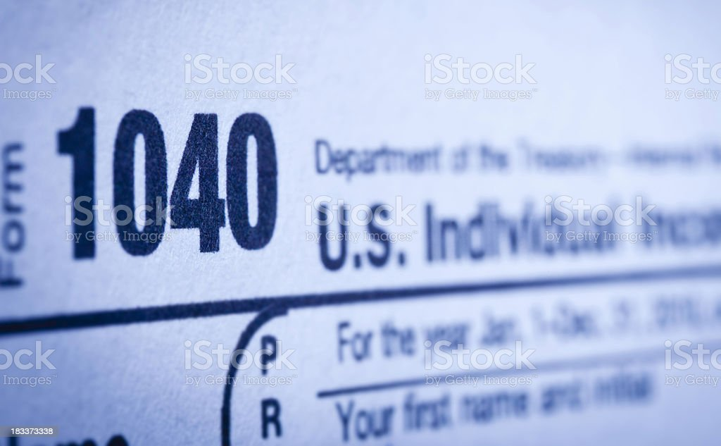 Income Tax Form 1040 royalty-free stock photo