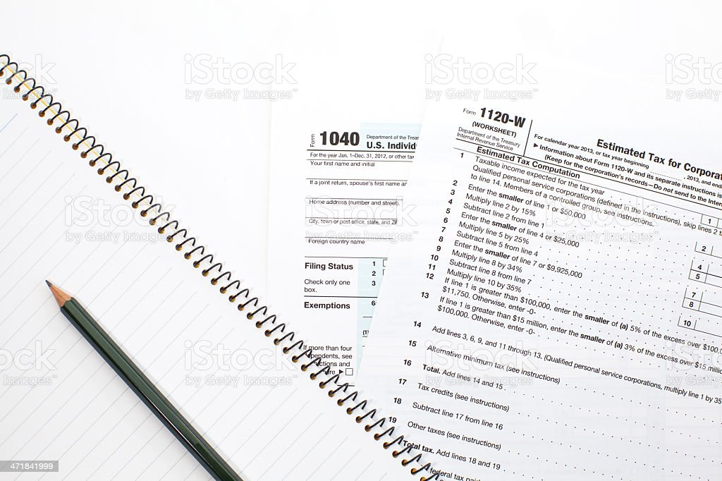 U.S. income tax form royalty-free stock photo