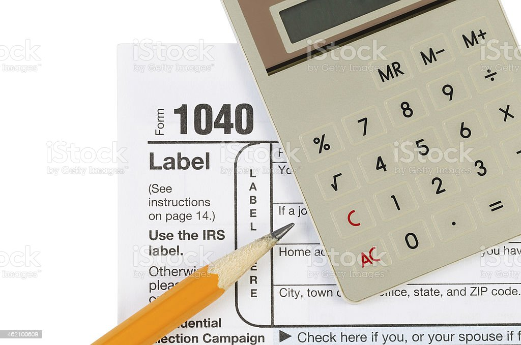 Income Tax Items stock photo