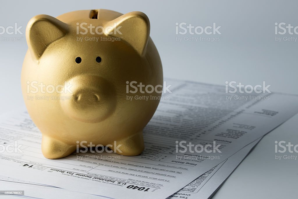 Income tax stock photo