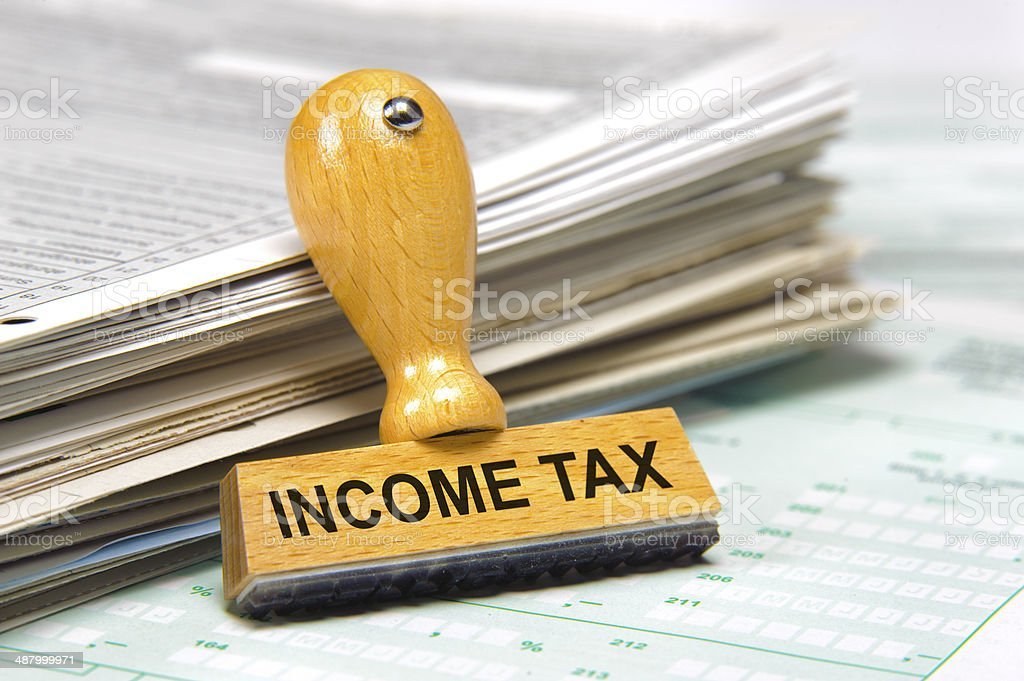 income tax stock photo