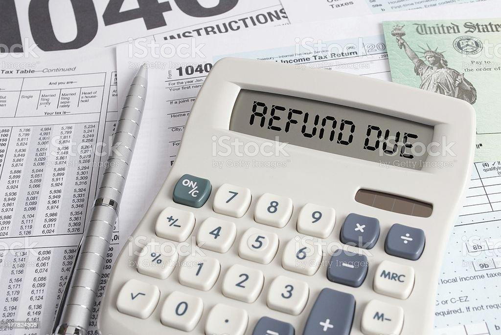 Income Tax Refund Due stock photo