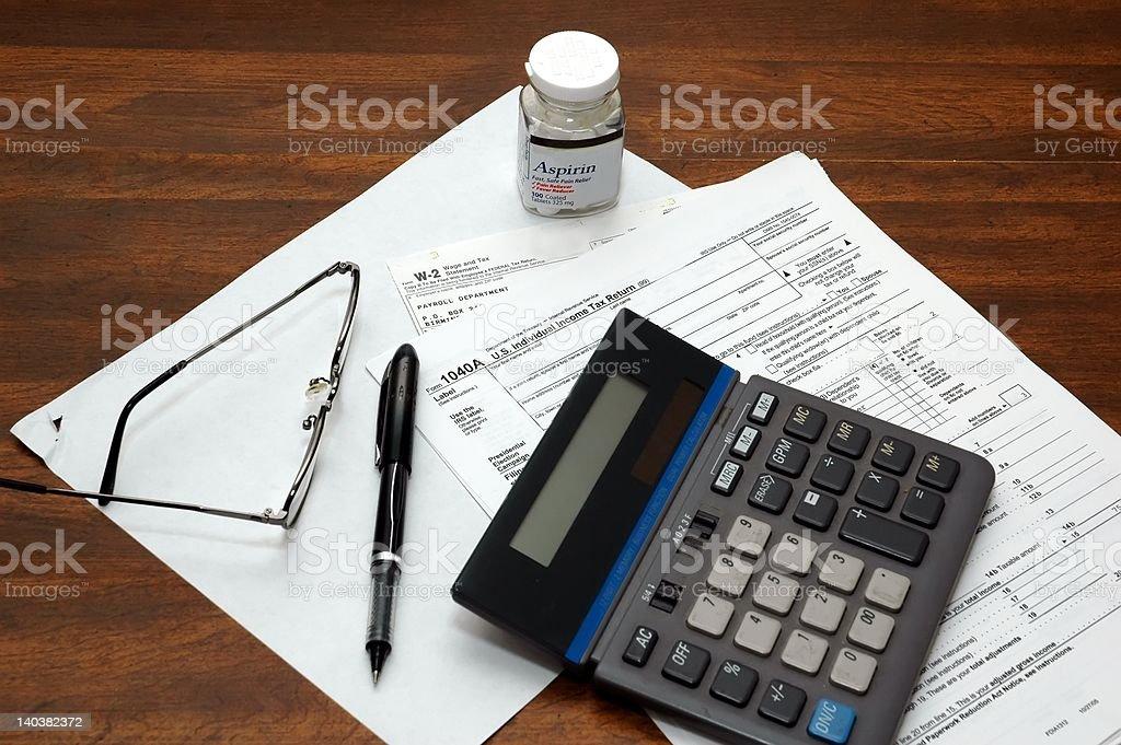 Income Tax Return stock photo