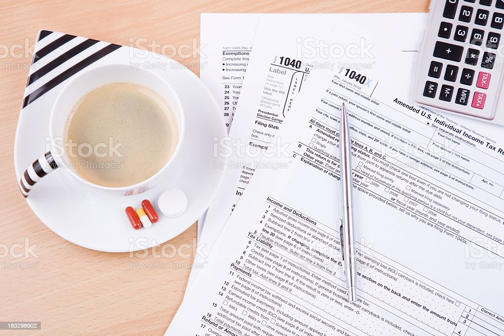 Income tax return royalty-free stock photo