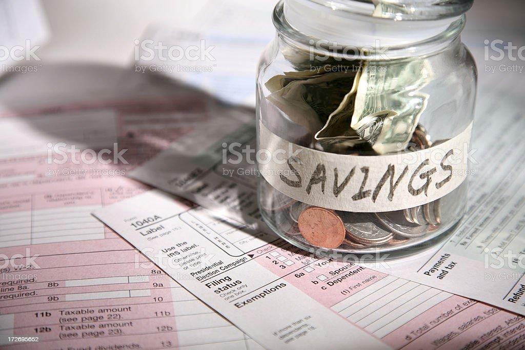 Income Tax Time (saving) royalty-free stock photo
