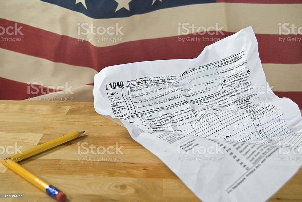 Income Tax Time royalty-free stock photo