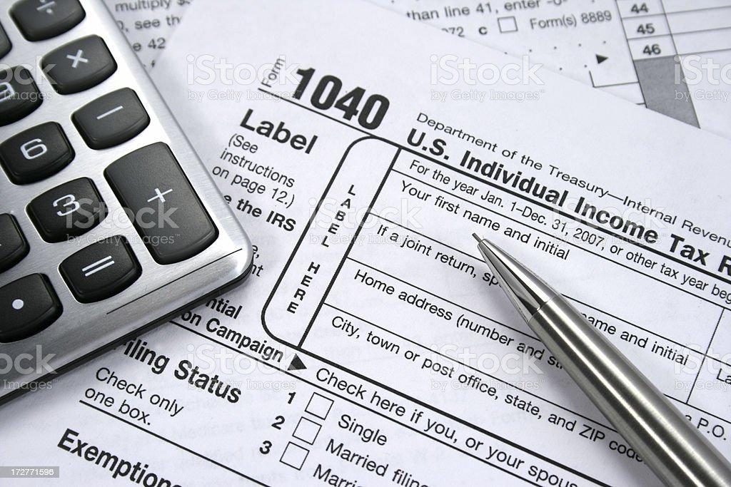 Income Taxes stock photo
