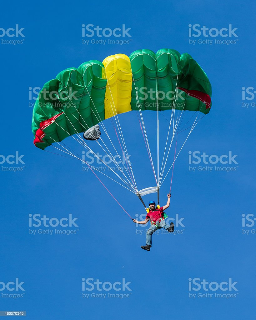 Incoming parachutist royalty-free stock photo