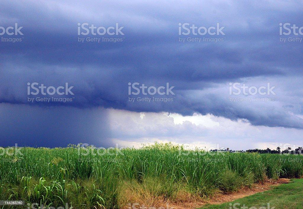 Incoming storm over Lake Okeechobee, Florida stock photo