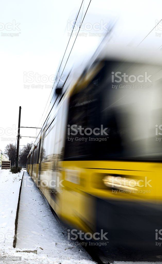 Incoming Tram royalty-free stock photo