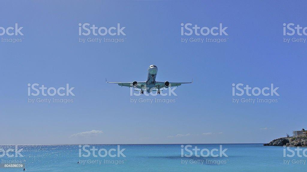 Incomming Aircraft stock photo