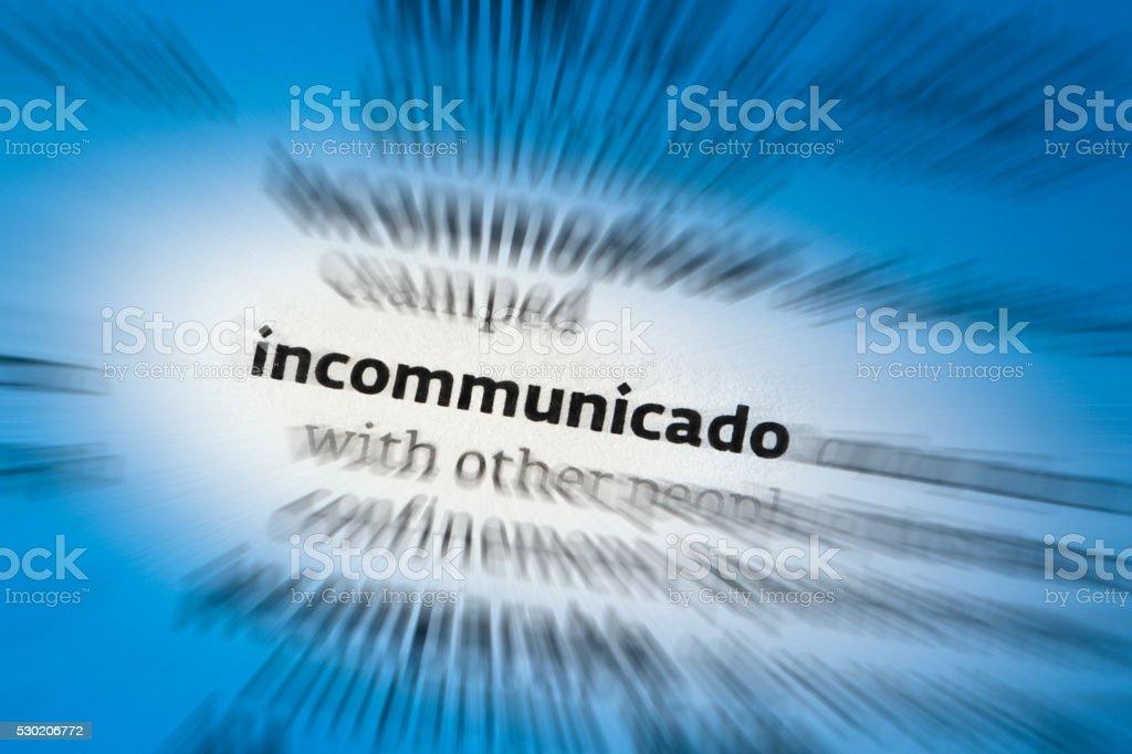 Incommunicado stock photo