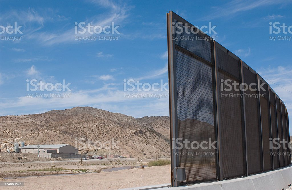 Incomplete Border Fence royalty-free stock photo