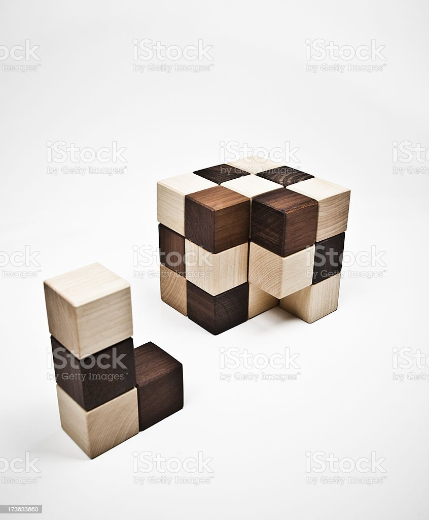 incomplete cube royalty-free stock photo