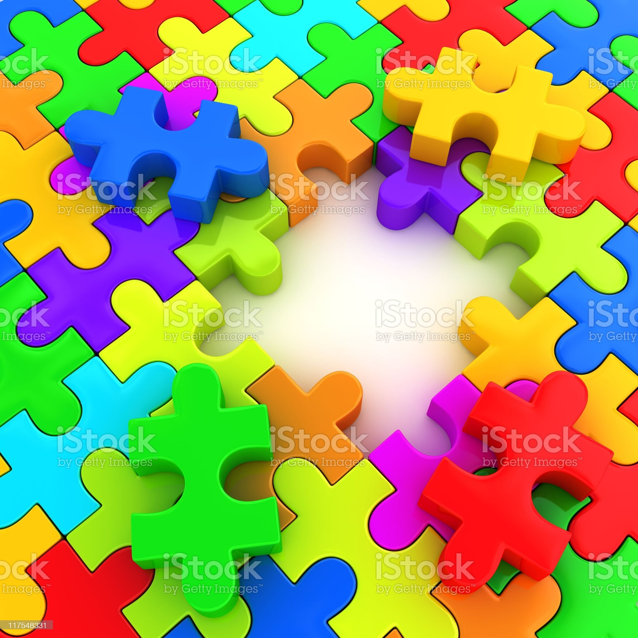Incomplete puzzle royalty-free stock photo